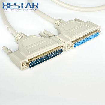 OB8.0 DB37 macho a DB 37 macho o hembra cable de conexión 1,5 m DB-37 macho a hembra cables de puerto serie 5ft cable de extensión 37pin