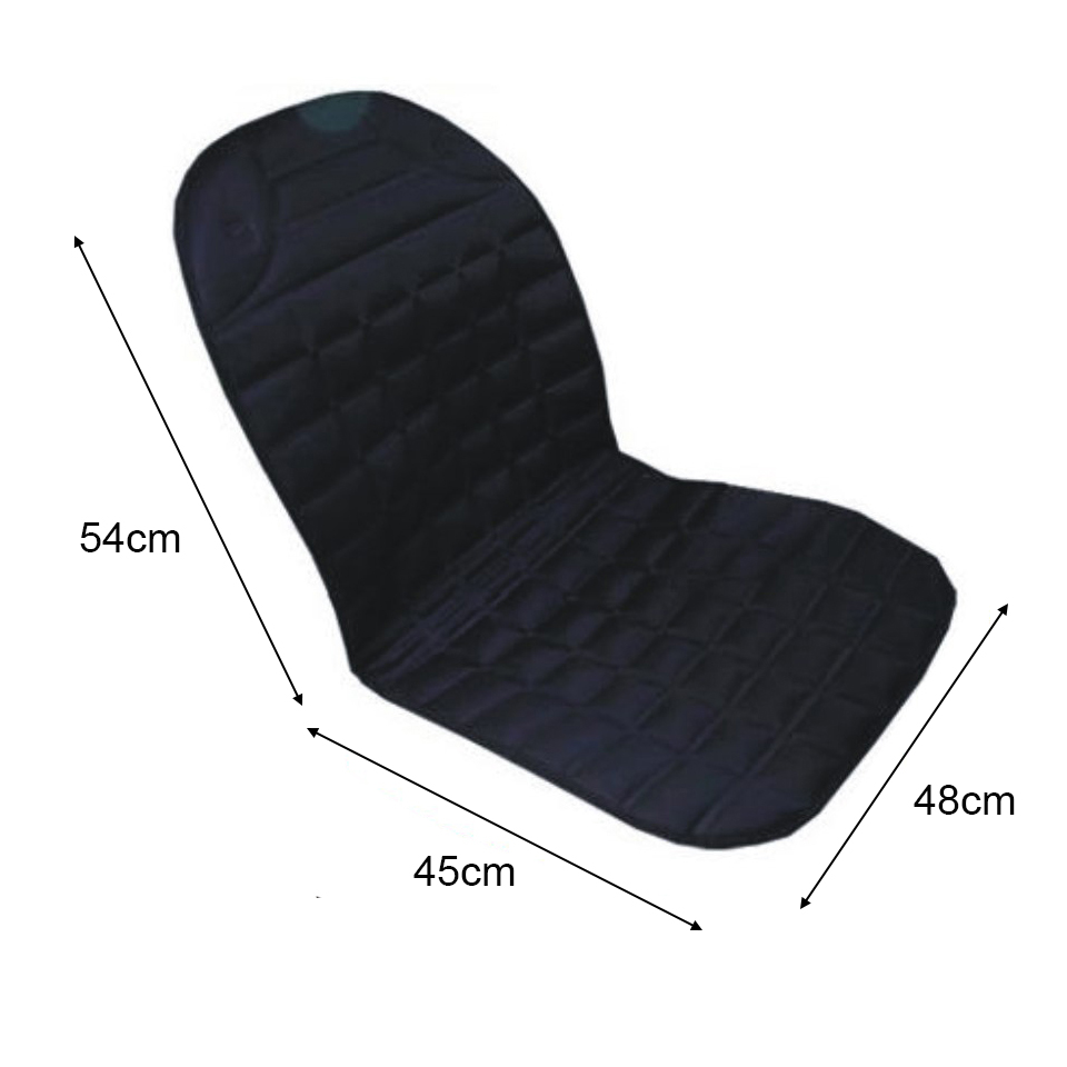 12V Heated Car Seat Cushion Cover Seat Heater Warmer Winter Household Cushion Cardriver Heated Seat Cushion Black Gray