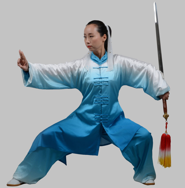 Customize Tai chi clothing taiji sword uniform kungfu outfit Martial arts clothes wushu suit for women girl kids children [oriental charm]customize tai chi clothing taiji sword uniform kungfu outfit martial arts clothes wushu suit for adult children
