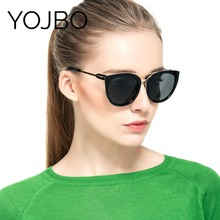 YOJBO Polarized Sunglasses Women 2017 Adult Gafas De Sol Shades female Driver Cat Eye Pink Mirror Glasses Brand Designer Eyewear