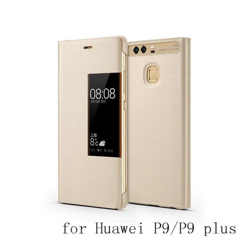 Luxury Original Huawei P9 Smart View Flip PU Leather Case Cover For Huawei P9 P9 Plus