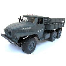 купить RC Truck 1: 12 simulation full-size 6wheel drive Soviet Ural truck model off-road Remote Control Car VS WPL B-16 Q60 дешево