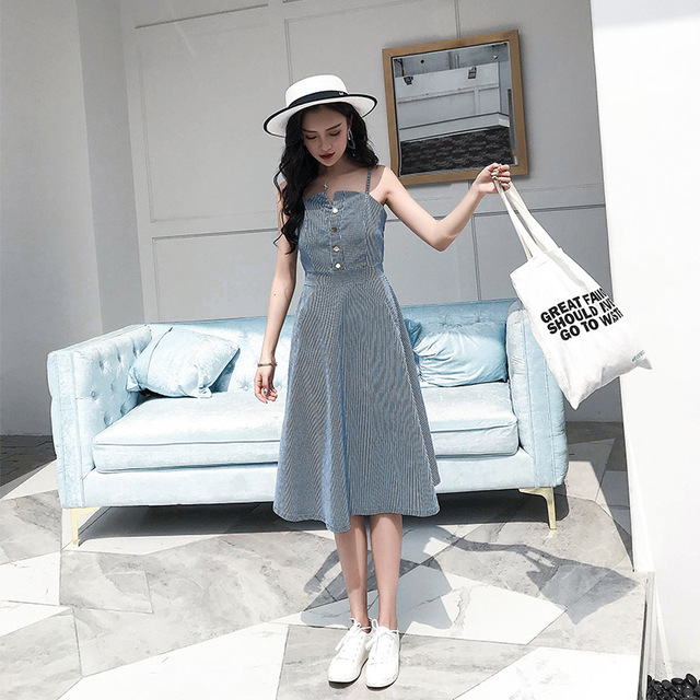 Instagram Fashion Girls: Aliexpress.com : Buy Women Denim Sundress New Korean