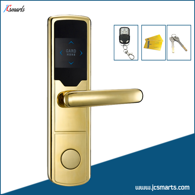 Zinc ally electric door lock with M1 card + remote controller+mechanical keys apartment rfid door lock remote controller smart lock with mechanical keys