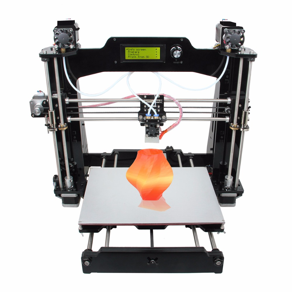 Geeetech Prusa I3 M201 3D Printer 2-In-1-out Extruder Newest Upgraded Acrylic Frame Reprap DIY Printing Kits Big Printing Size geeetech extruder 2 2 atmega168 controller board red