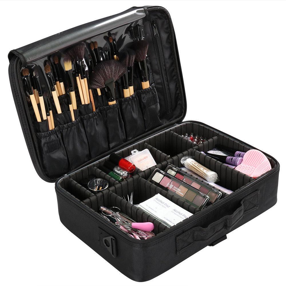 Femmes Maquillage Sac Haute Qualité Organisateur Professionnel Maquillage Brosse Sac Cas Cosmétique Sac Grande Capacité De Stockage Sac Art Boîte à Outils