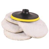 7 Polisher Buffer Soft 5PCs Set Wool Pad Bonnets For Polishing Buffing With Loop Motors Care