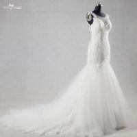 RSW1054 Luxury Beaded Crystal Corset Lace Sexy Mermaid Wedding Dresses