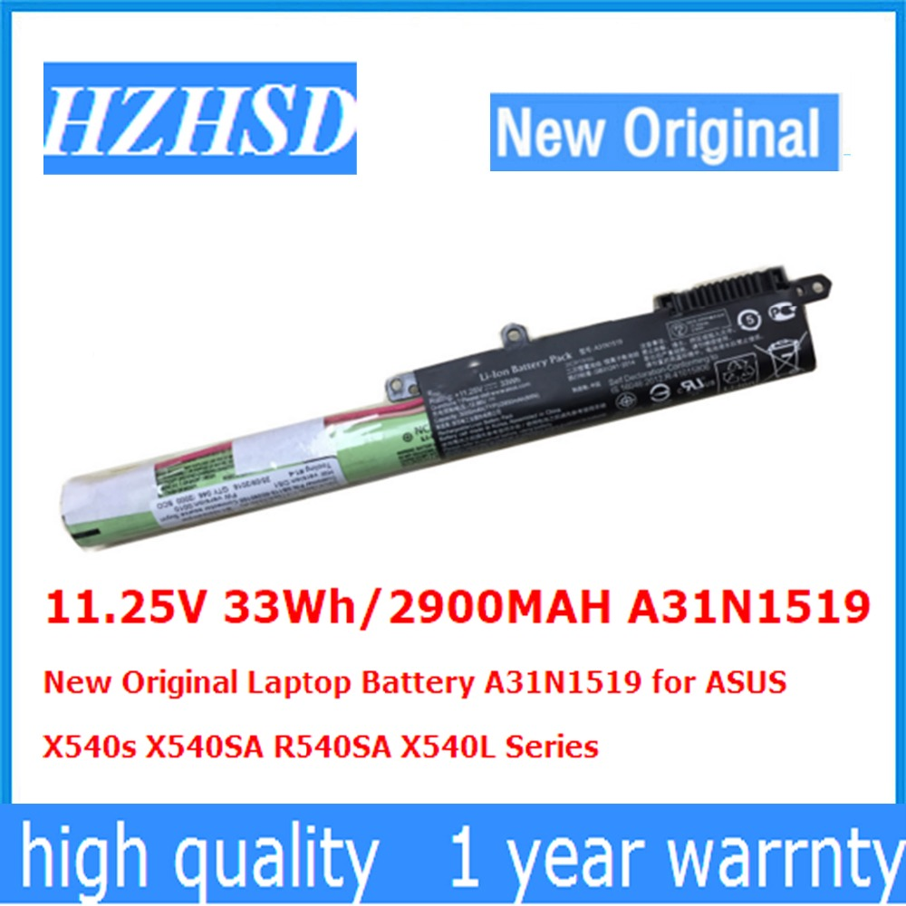 11.25V 33Wh/2900MAH A31N1519 New Original Laptop Battery A31N1519 For ASUS  X540s X540SA R540SA X540L