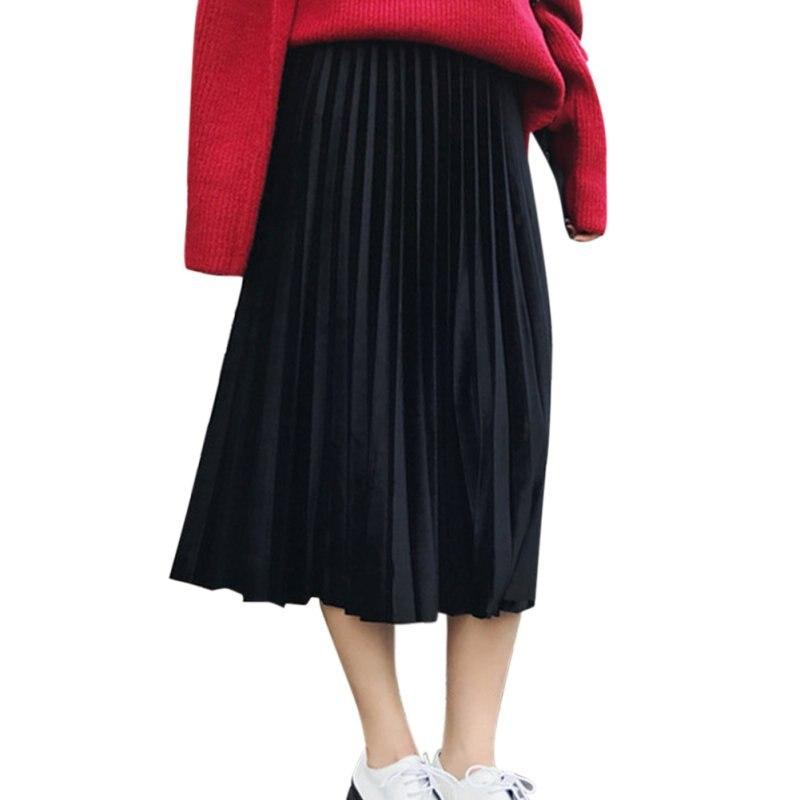 Плиссированная юбка на поясе