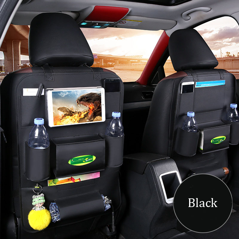 1Pcs Leather Car Back Seat iPad Hanging Bag Holder Hook Car Storage For Children Toys Pocket Organizer Sundries Storage Bag کیف پشت صندلی ماشین