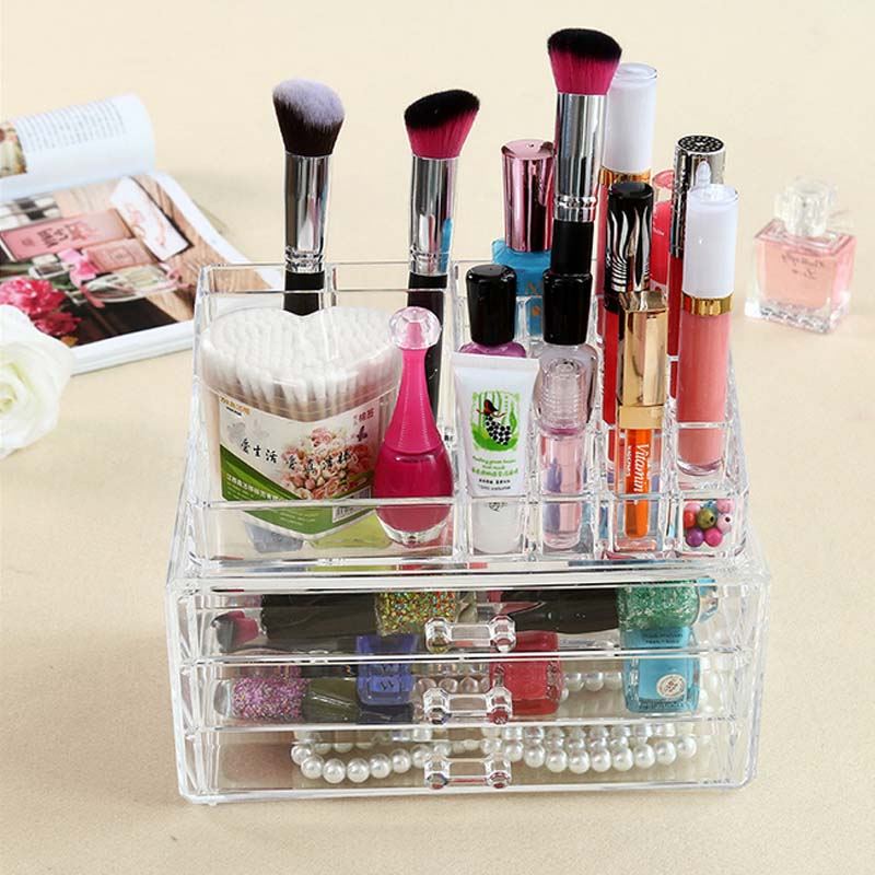 Acrylic Jewelry Makeup Organizer Large Rectangle Storage