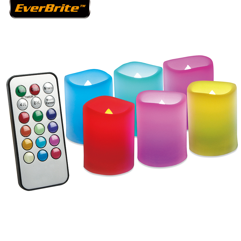 EverBrite 6PC LED Candles Light  Flameless Candles With Battery & Remote Control  For Home Decoartion Party Wedding Xmas