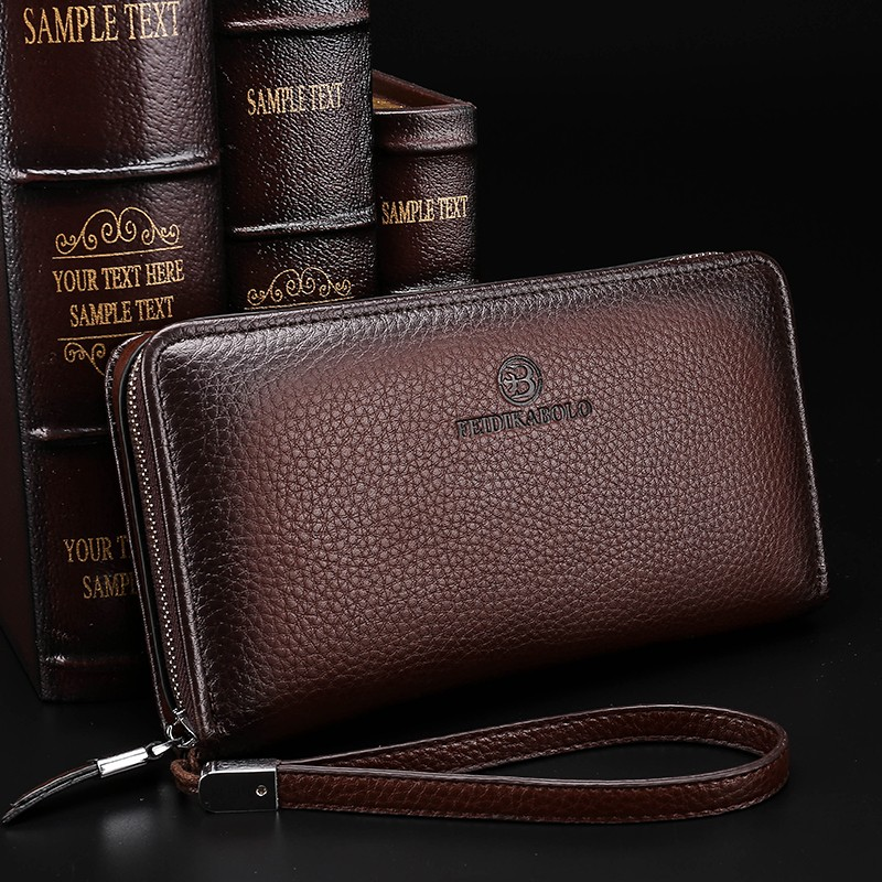 2016 Luxury Male Leather Purse Men\'s Clutch Wallets Handy Bags Business Carteras Mujer Wallets Men Black Brown Dollar Price (4)