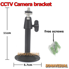 NEW! black cctv digital camera metallic gimbal bracket Rotation common surveillance digital camera stand 360 diploma wall mount cctv accent