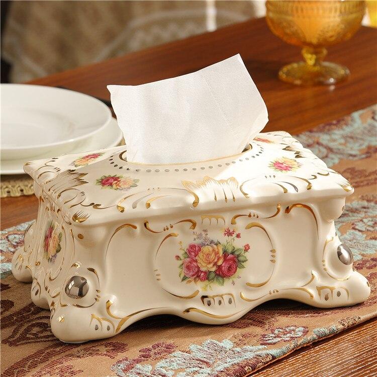 Гостиная украшения, высокое качество, декоративный держатель для бумажных полотенец коробка для салфеток домашняя обстановка керамическа