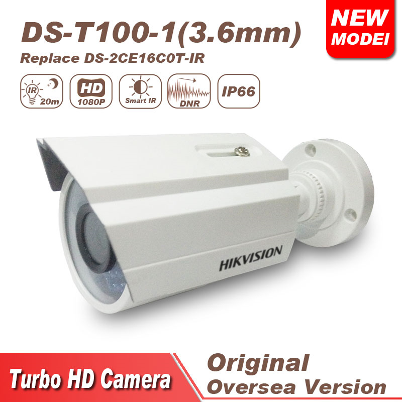 Hikvision cctv camera tvi 1080P DS-2CE16C0T-IR bulllet IR IP66 hikvision ds 2ce16c0t ir 3 6mm original bullet camera outdoor analog camera ir tvi 720p 1mp