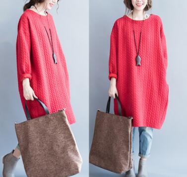 2018 Большие размеры женские на осень-зиму в Корейском стиле платье с длинными рукавами жира мм добавить увеличение жира Свободные показать т...