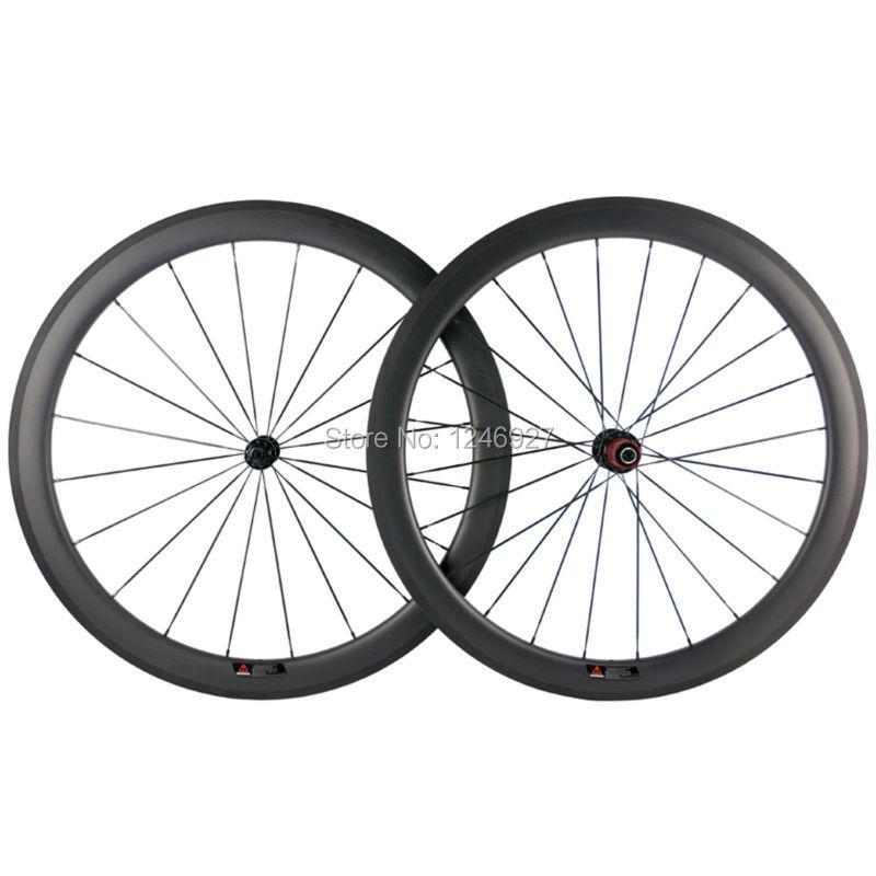 50mm Clincher Carbon Wheels 25mm Width U Shape Road Bike Carbon Wheelset T700 Carbon Fiber Chinese