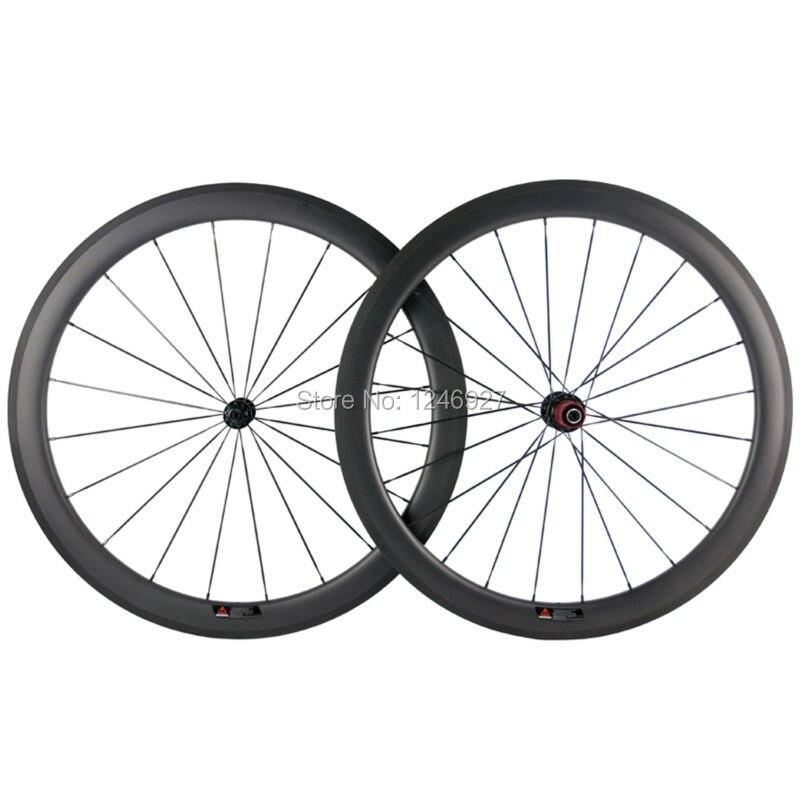 50mm Clincher Rodas De Carbono T700 25mm de Largura U Forma Rodado de Carbono Bicicleta De Estrada De Fibra De Carbono Chinese