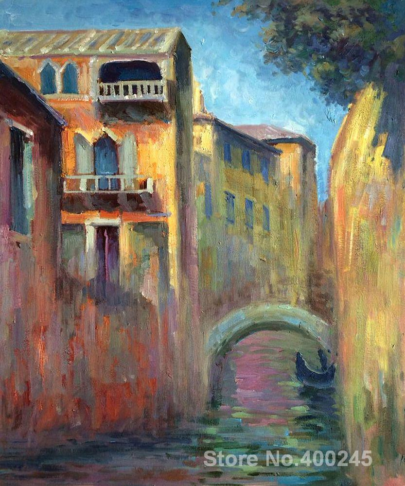 oil Painting room decor Venice Rio della Salute by Claude Monet Landscape art Handmade High qualityoil Painting room decor Venice Rio della Salute by Claude Monet Landscape art Handmade High quality