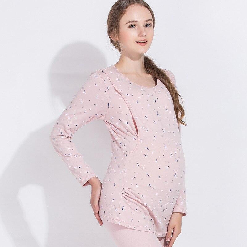 Maternity clothes maternity nightgown breastfeeding pregnancy sleepwear for pregnant women nursing pajamas set