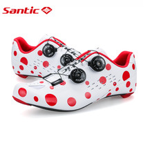 Santic New Men Road Cycling Shoes Carbon Light Sole with PU Upper Ciclismo Zapatilla Annul Ciclismo Zapatillas S12024W