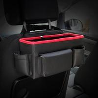 Car Backseat Folding Portable Storage Box Multi-Use Auto Seat Back Organizer Leather Car Interior Accessories Organizers Trunk