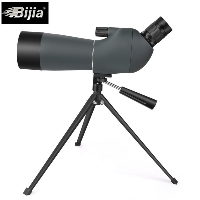 BIJIA 20 60x60 spoting scope bird watching monocular BAK4 prism waterproof HD zoom telescope with tripod