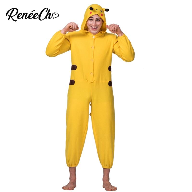 Men Costume Halloween Costume For Adult Animal Cosplay Pikachu Costume onesies for adults kigurumi pajamas christmas cosplay