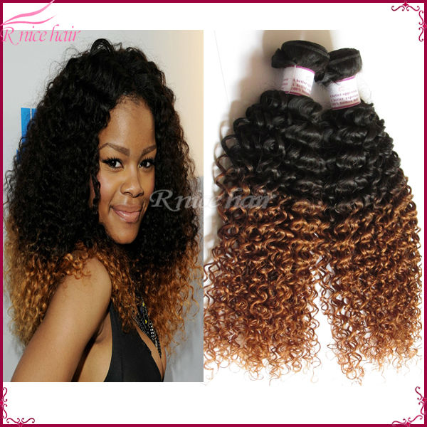 Good quality ombre kinky hair weave 2pcs lot mira afro kinky curly good quality ombre hair weave 2pcs lot afro kinky curly hair pmusecretfo Image collections