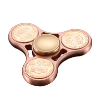 US Dollar Coin Cents Fidget Spinner Pure Copper Metal Hand Spinner Decompression Toys Finger Gyro Rotation