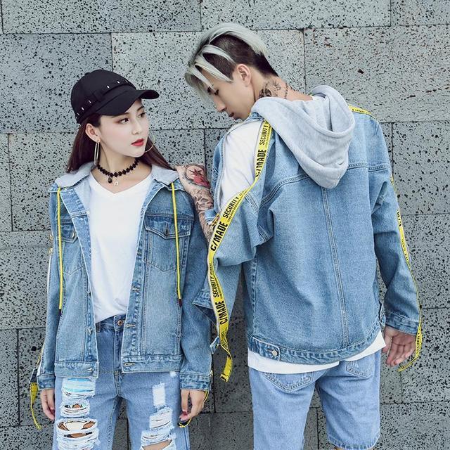 21d31d93717 2018 весенние и осенние джинсовые куртки Урожай с длинным рукавом Свободные  женские повседневные