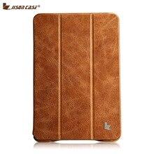 Jisoncase роскошные натуральной кожи чехол для iPad mini 2 и 3 ультратонкий смартфон стенд фолио флип обложки и чехол