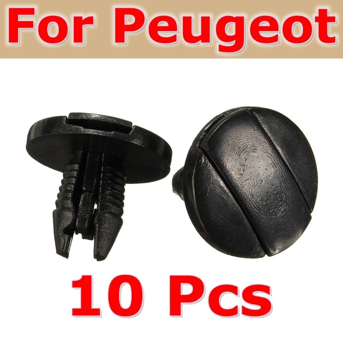 2x PEUGEOT 207 307 308 WHEEL ARCH SPLASH GUARD TRIM CLIPS INNER LINER