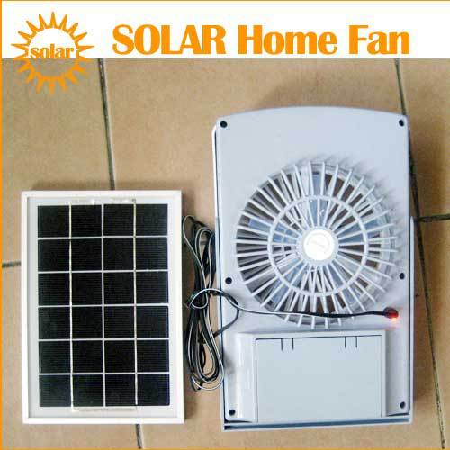 Wonderful Outdoor Lighting Solar Panel Powered Room Fan Rechargeable, Sun Cell Window  Ventilator White   Brand