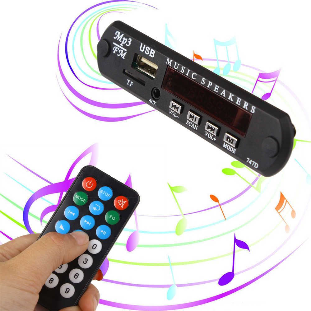 DC 5V Micro USB Power Supply TF Radio MP3 Decoder Board 5V Audio Module for Car Remote Music Speaker geeetech evaluation board for silicon laboratories si4703 fm radio module tuner