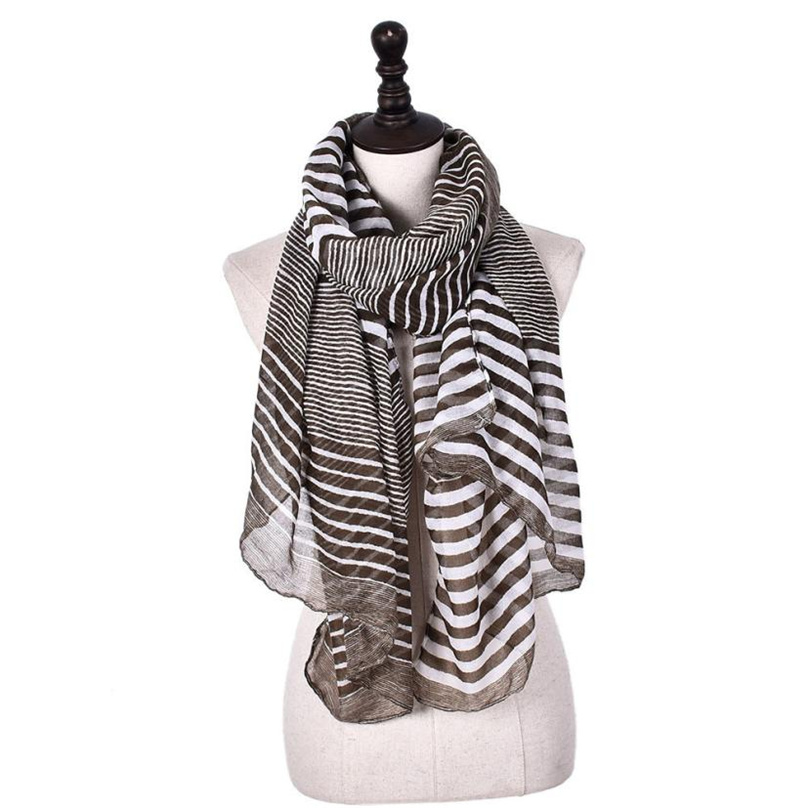 2017 Fashion Elegant Striped Scarve Woman Brand Cotton Scarf Women Shawl High Quality Print Hijab Ff&r4 50% OFF
