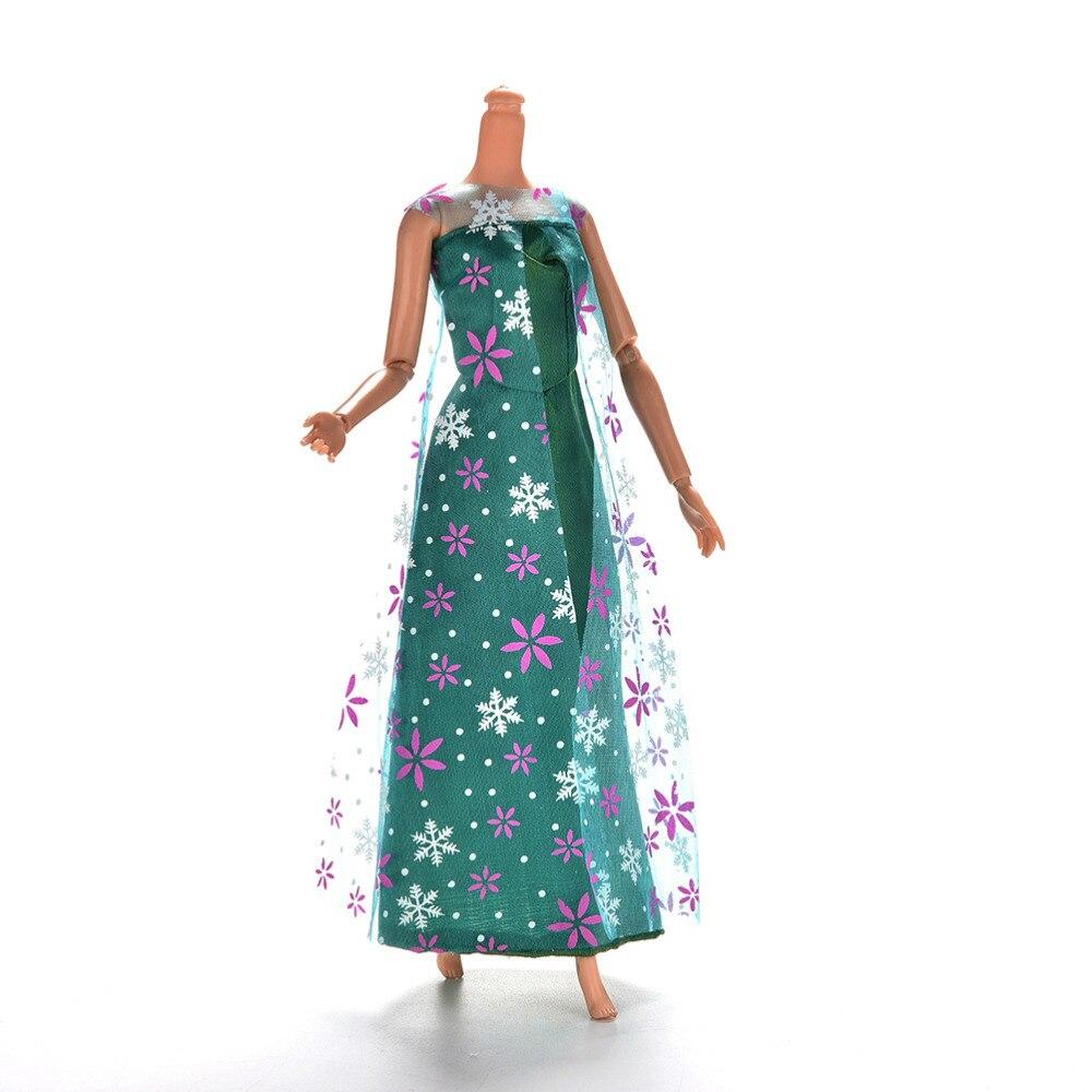 1pcs Green Evening Dress Handmade Long Wedding Dress for Barbie ...