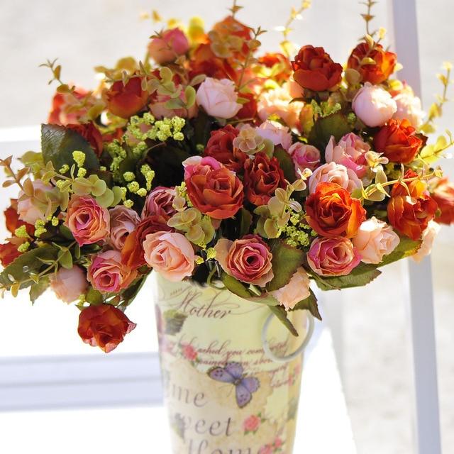 Aliexpress.com : Buy (15 heads)Fashion bronzier rose artificial ...