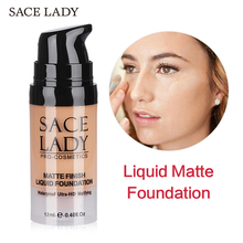 SACE LADY Liquid Foundation Waterproof Matte Face Makeup 6 Colors Base Cream Concealer Natural Make Up Moisturizing Cosmetic