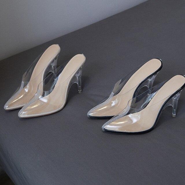 ASUMER 2020 mode printemps automne nouvelles chaussures femme bout pointu peu profonde slingback peau de mouton à lintérieur de PVC talons hauts chaussures femme