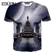 ESIUPIN Mode marke kleidung herrenmode T-shirts Männer kurzarm Cartoon kunst Männer T-shirts 3d herren t shirts YP26.8