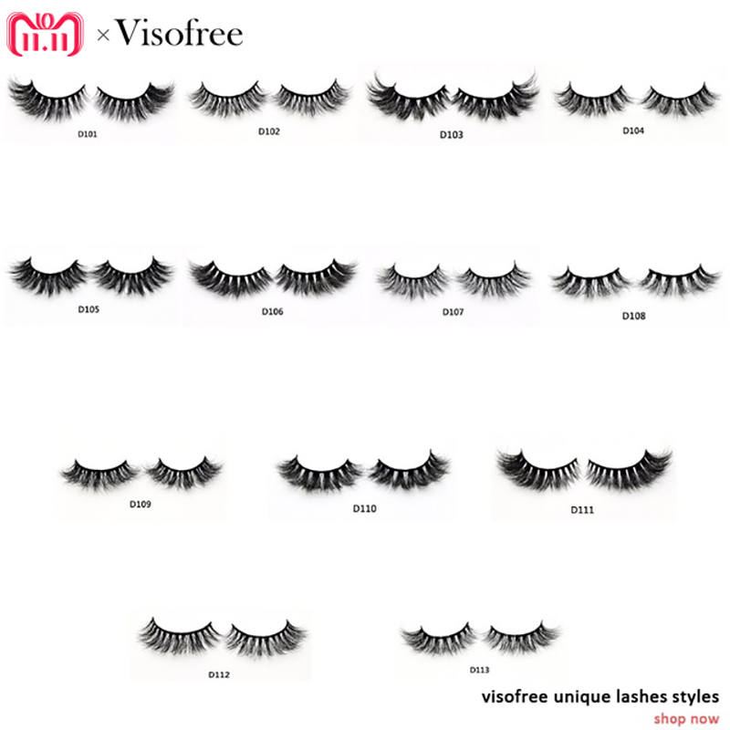 Visofree Eyelashes 3D Mink Lashes Luxury Hand Made Mink Eyelashes High Volume Cruelty Free Mink False Eyelashes Upper Lashes цена