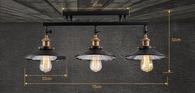 Online Shop Mode Vintage Loft Eisen Deckenleuchte Home Deco Wohnzimmer DIY Spiegel Glas Lampshape E27 Edison Birne