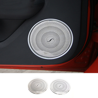 MOPAI Car Interior Car Door Speaker stereo Decoration Trim Cover Stickers Fit For Ford Mustang 2015 Up Car Styling