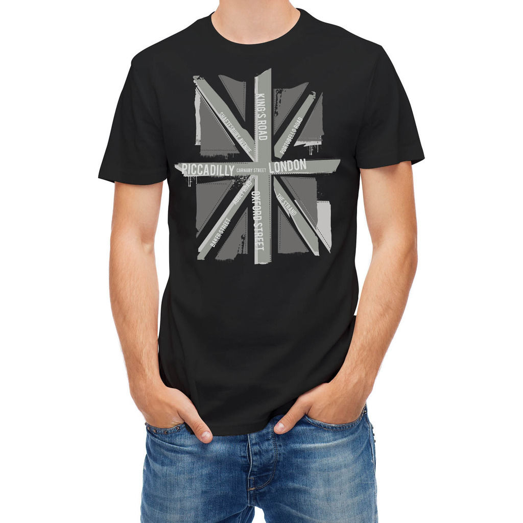 Design t shirt cheap uk - T Shirt Black And White Uk Flag Stranger Things Design T Shirt 2017 New New
