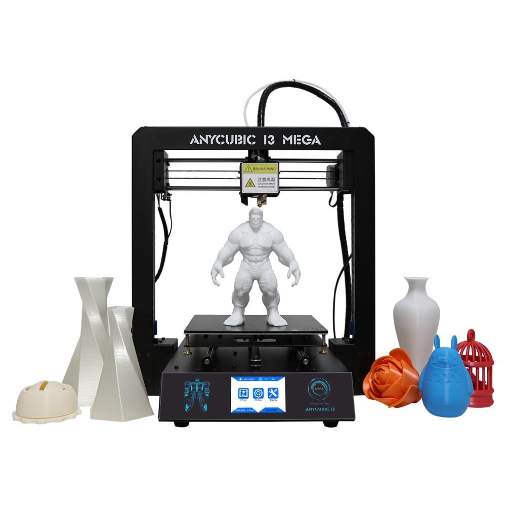 Anycubic 3D принтер i3 Мега большой печати Размеры металлический Рамки решетки платформа запатентованная Desktop 3D принтер DIY Kit для подарок