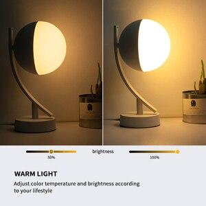 Image 2 - RGB LED مكتب مصابيح 7 واط الذكية صوت LED التحكم واي فاي App عن بعد عكس الضوء نوم الجدول أضواء الليل العمل مع أليكسا جوجل المنزل