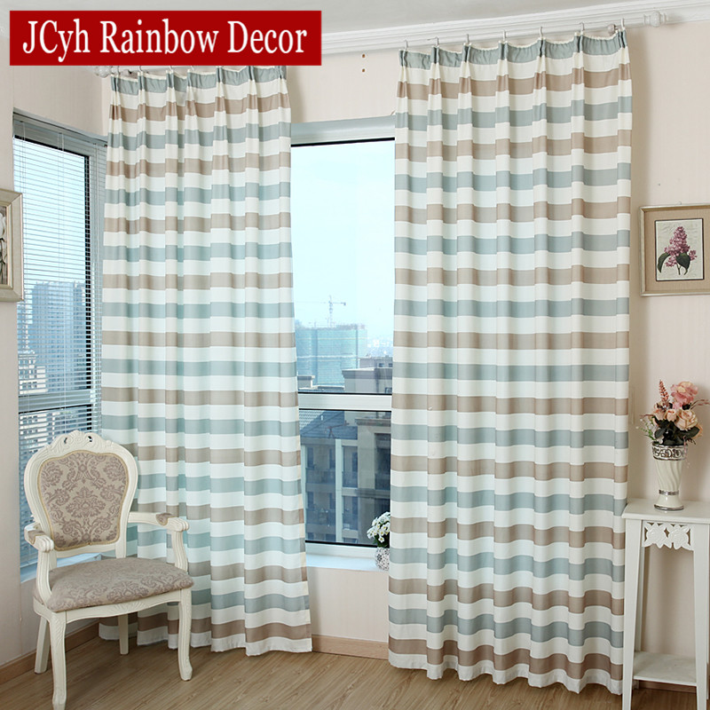 Kitchen Curtains Fabric Curtains Fabric Stripe Drapes: JCyh Striped Blackout Curtains For Bedroom Children's Room
